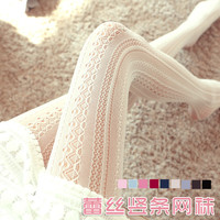 W716  2015 new arrival hollow out lace bars in fishnet stockings sexy lace pantyhose sweet women girls tights free ship