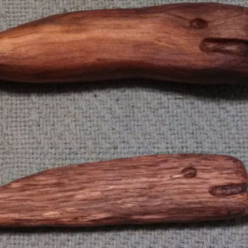 Wooden carved whales