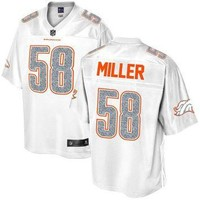 Men's Denver Broncos Von Miller NFL Pro Line White Out Fashion Jersey