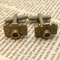 Steampunk Camera Cuff Links Vintage Style Original by sallydesign