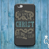 iPhone 4 4s 5 5s 5c 6 6s plus iPod Touch 4th 5th 6th Gen Cool Bible Verse Christian Book Quote Cover Cute Philippians Gift Christ Word Case