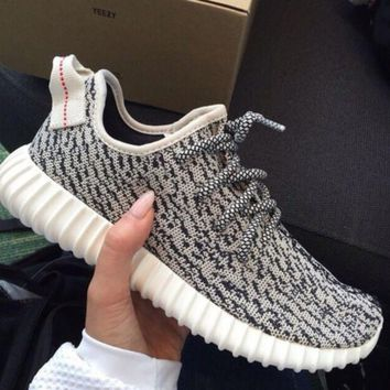 """""""Adidas"""" Yeezy Boost Women Men Casual Running Sports Shoes Sneakers Grey I"""
