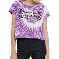 School Sucks Start A Band Tie Dye Girls Crop Top