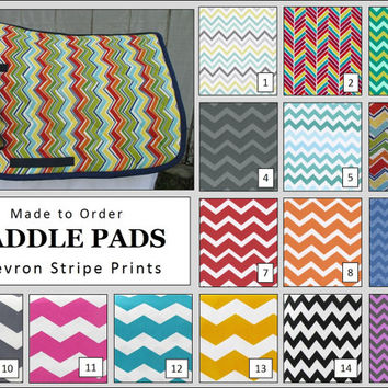 MADE TO ORDER English All Purpose Saddle Pad: Chevron Print