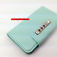 On SALE For A Limited Time  Mint leatherette wallet by ShopTrokm