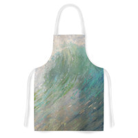 """Carol Schiff """"Wall Of Water"""" Blue Painting Artistic Apron"""