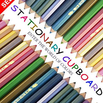 36 Watercolor Pencils By Stationary Cupboard Colored/ Coloring Pencils, Soft Core Drawing Pencils For Adult Coloring Books, Great Gift Idea 100% 365 DAY Hassel Free Satisfaction Guaranteed