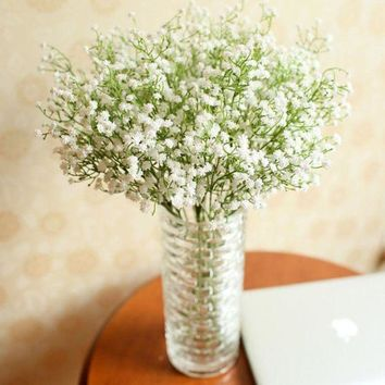 ICIKU7Q Flowers  Artificial Gypsophila Flower Fake Silk Wedding Party Bouquet Home Decor #1517