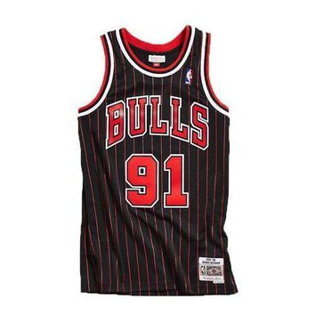 NBA Chicago Bulls Dennis Rodman Hardwood Classic Jersey Mitchell and Ness SWINGMAN
