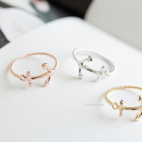 cute anchor rings,jewelry, jewelry rings,anniversary ring,couple rings,unique rings,Funky rings,cute rings