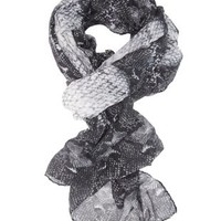 Black Combo Lightweight Python Print Wrap Scarf by Charlotte Russe