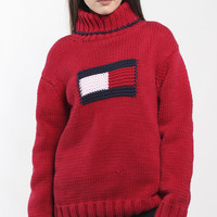 Vintage Tommy Hilfiger Turtleneck Knit Sweater