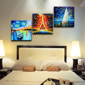 American oil painting Backdrop of sofa Frameless abstract wall painting Single Environmental protection material waterproof