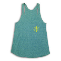 Women's Lemon Anchor Tank