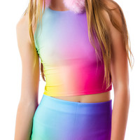 O Mighty Unicorn Puke Skirt Tie Dye