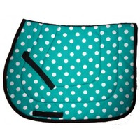 English : English Pad Polka Dots Turquoise White
