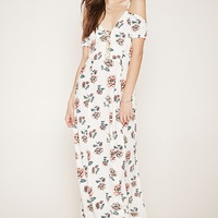 Floral Open-Shoulder Maxi Dress | Forever 21 - 2000168108