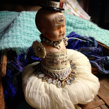 Altered art doll miniature frozen Charlotte dancer ballerina ballet angel fairy doll