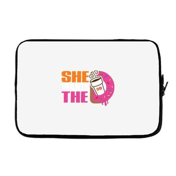 She Wants The D - Dunkin Donuts Laptop sleeve