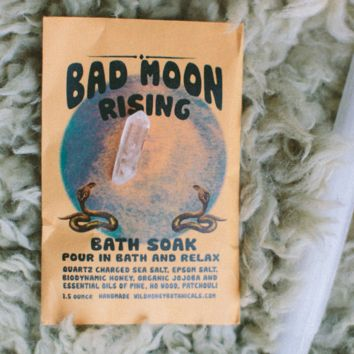 Wild Honey Botanicals - Bad Moon Bath Salt Soak