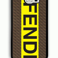 Samsung Galaxy S6 Case - Hard (PC) Cover with fendi logo Plastic case Design