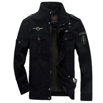 High Quality Men Military Army Jackets New Arrivals Outerwear embroidery Fashion Man Jacket