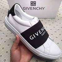 GIVENCHY Trending Women Men Stylish Leather Sport Shoes Sneakers White/Black