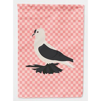 Saxon Fairy Swallow Pigeon Pink Check Flag Canvas House Size BB7946CHF