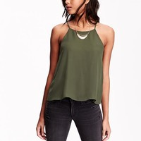 Old Navy Womens Chiffon Halter Tops