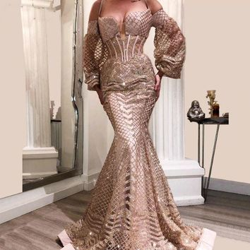 Arabic Sexy Evening Dresses Aibye Muslim Turkish Prom Pageant Gowns For Weddings Abendkleider