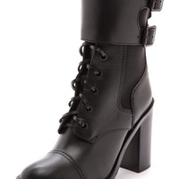 Tory Burch Broome High Heel Combat Boots