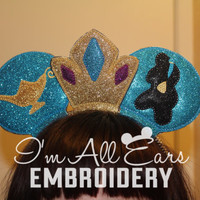 Jasmine Aladdin Disney Inspired Custom Mouse Ears. Disney Mickey and Minnie Custom Mouse Ears.