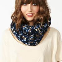 Mixed Infinity Scarf - Blue