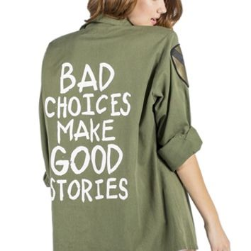 BAD CHOICES Vintage Army Jacket/Shirt