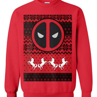 Deadpool Ugly Christmas Sweater sweatshirt Unisex Adults