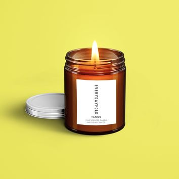 EverydayFolkCo. Tango soy Candle. Grapefruit citrus mint. 9 ounces