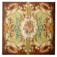 Baroque pattern ceramic tile