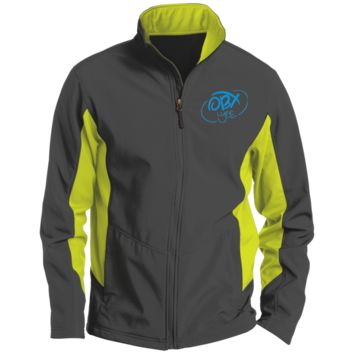 Sky Blue OBX Lyfe Port Authority Tall Colorblock Soft Shell Jacket in 5 Colors