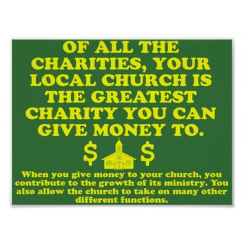 Your Church Is The Greatest Charity. Poster