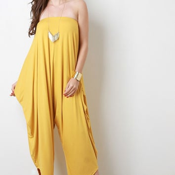 Loose Draped Jersey Tube Jumpsuit