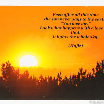 Photo Magnet, Photography, Orange Sunrise, Hafiz Quote, Poetry, Inspirational, Fridge
