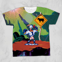 Earthworm Jim Unisex Video Game Sublimation T-shirt