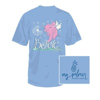 Believe Youth Tee in Sky Blue by Southern Fried Cotton