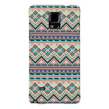 Colorful Abstract Aztec Tribal Pattern Galaxy Note 4 Case