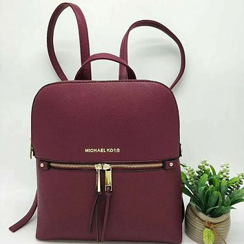 Michael Kors Women Leather Bookbag Shoulder Bag Handbag Backpack