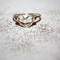 silver vela - sterling silver heart stacking ring by lilla stjarna - Valentine's Day - anniversary - gifts under 30