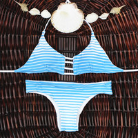 Sexy Bandage Swimsuit Swimwear Bathing Suit Vintage Bikini Set