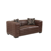 A'melas Collection Maxton Leather Loveseat