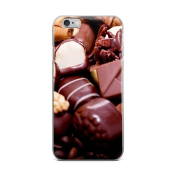 Chocolate Candy Collage Sweets Food Lover Dark Brown iPhone 4 4s 5 5s 5C 6 6s 6 Plus 6s Plus 7 & 7 Plus Case