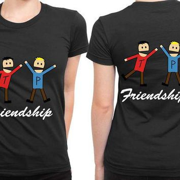 DCCKL83 South Park Terrence Friendship 2 Sided Womens T Shirt